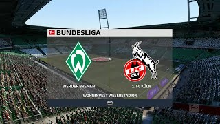 A simulation of the upcoming match in bundesliga, werder bremen vs köln. köln - bundesliga (06/11/2020) all goals & extended highlight...