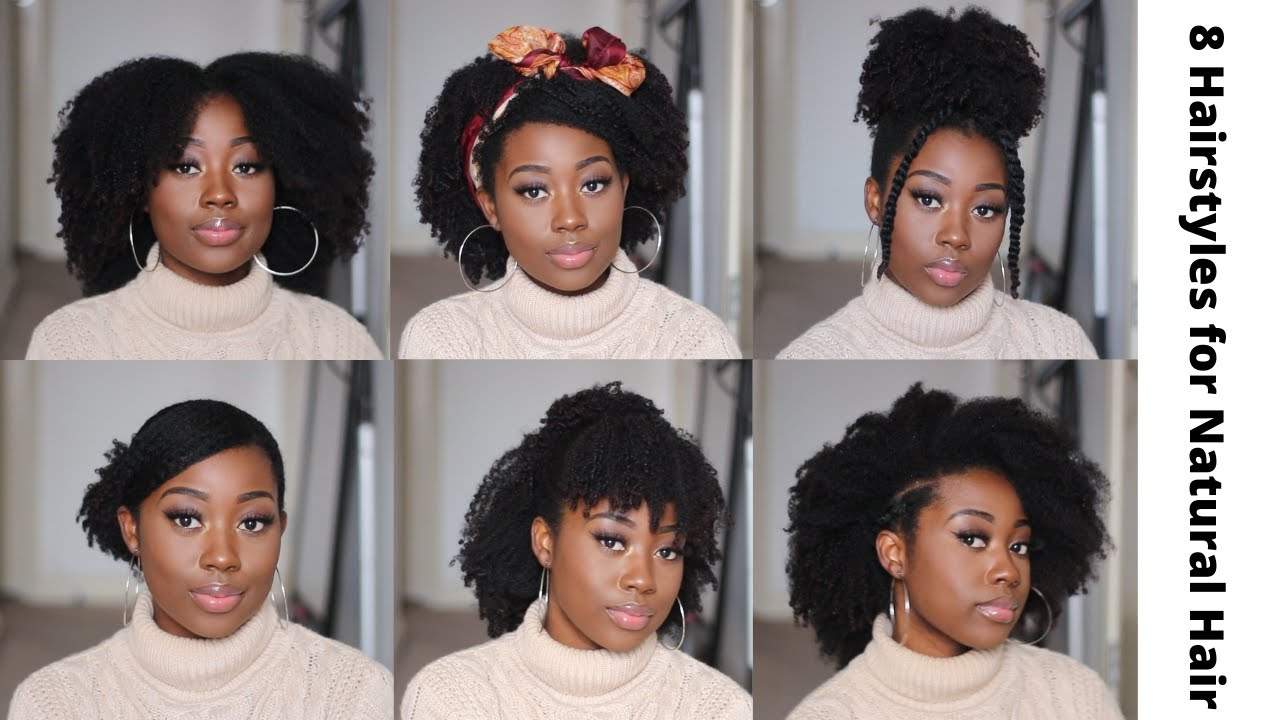 9 Quick Hairstyles For Short To Medium Natural Hair Type 4a 4b 4c Youtube