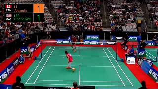 2015 Yonex Canada Open - MS R64 | Antonio Li VS Lee Chong Wei