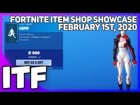 Fortnite Item Shop *NEW* LEAPIN' EMOTE! [February 1st, 2020] (Fortnite Battle Royale)