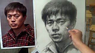 Portrait Drawing with Pencil | Portrait of young man