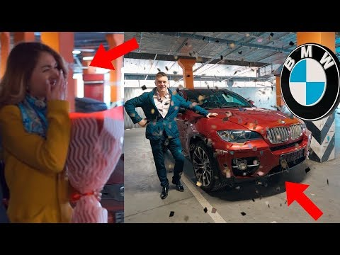 ОНА ЗАПЛАКАЛА ОТ ТАКОГО ПОДАРКА! ОБМАНУЛ И ПОДАРИЛ BMW X6!