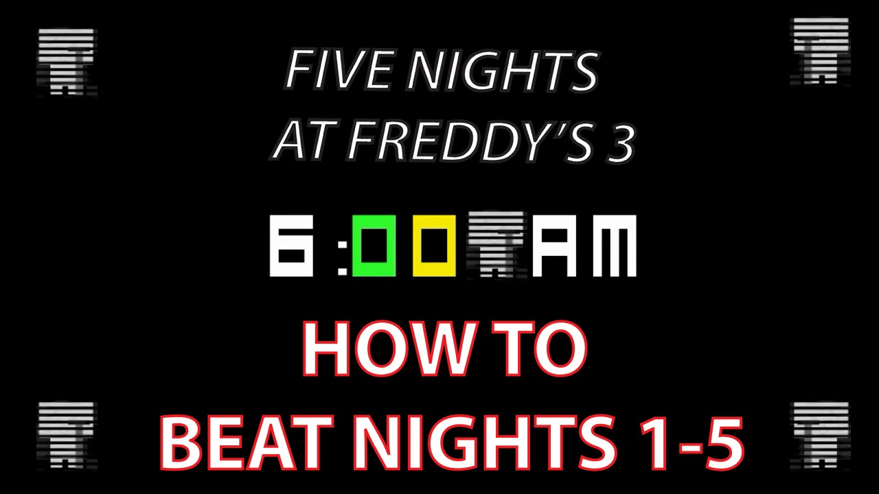 How to Beat Night 5 100% - Five Nights at Freddy's 3 Guide