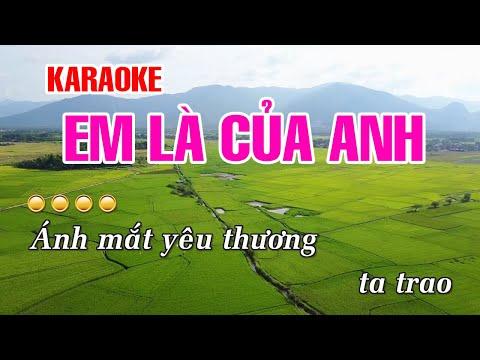 KARAOKE   Em Là Của Anh - Hồ Việt Trung   Beat Chuẩn