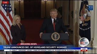 WATCH: President Donald Trump Announces Kirstjen Nielsen as Homeland Security Nominee 10/12/17