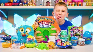 Gross Slime Toys Fun Surprise Eggs & Blind Bags for Boys Toy Video for Kids Kinder Playtime