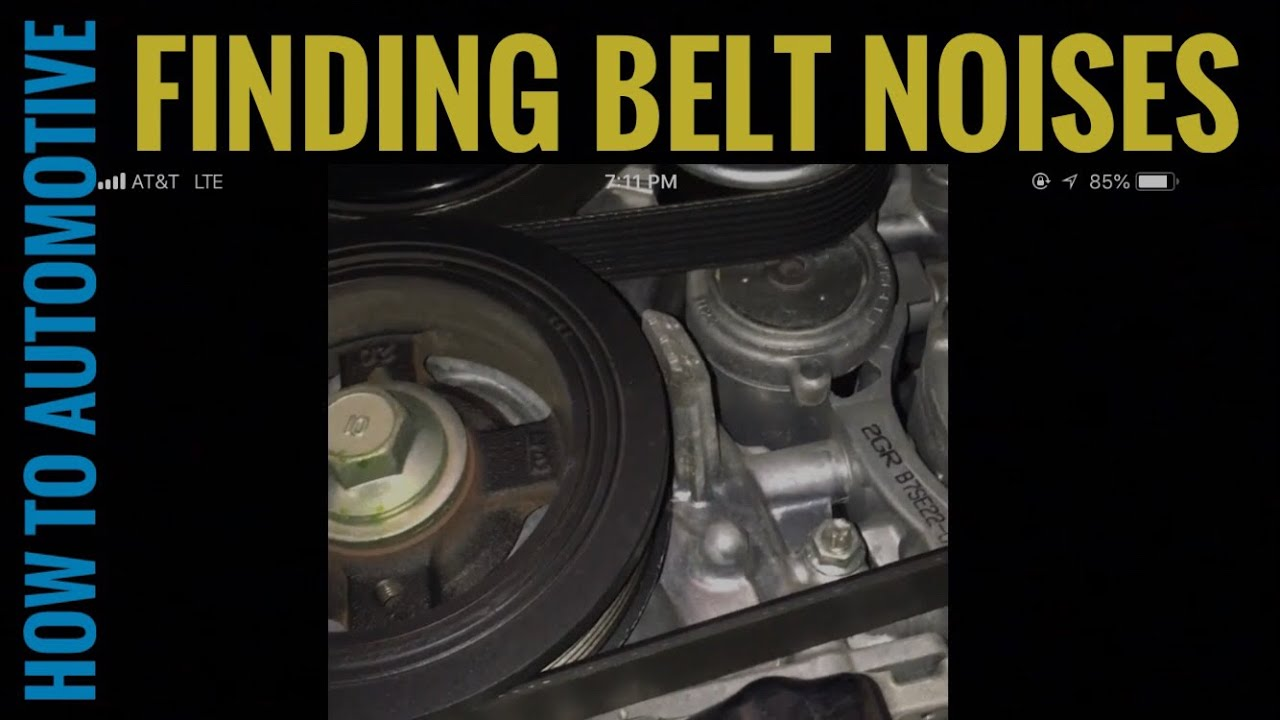 How to Diagnose Belt Noise on a 2010 Lexus ES350 - YouTubeYouTube