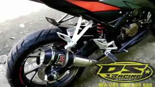 FULL SYSTEM + DB Killer Knalpot Racing Akrapovic GP M1 Lorenzo Motor 150cc Honda CB150R , CBR 150 R Facelift , Yamaha Vixion , Jupiter MX , R15 , Suzuki Satria FU , DLL