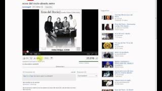 Como grabar solo el audio de Youtube