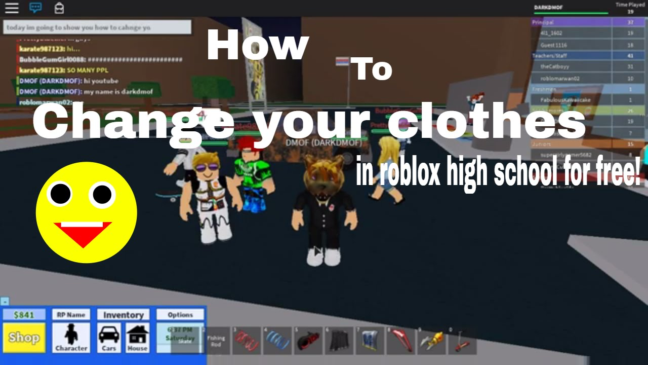 How To Change Your Clothes In Roblox High School Without Robux - how to change your username on roblox no robux