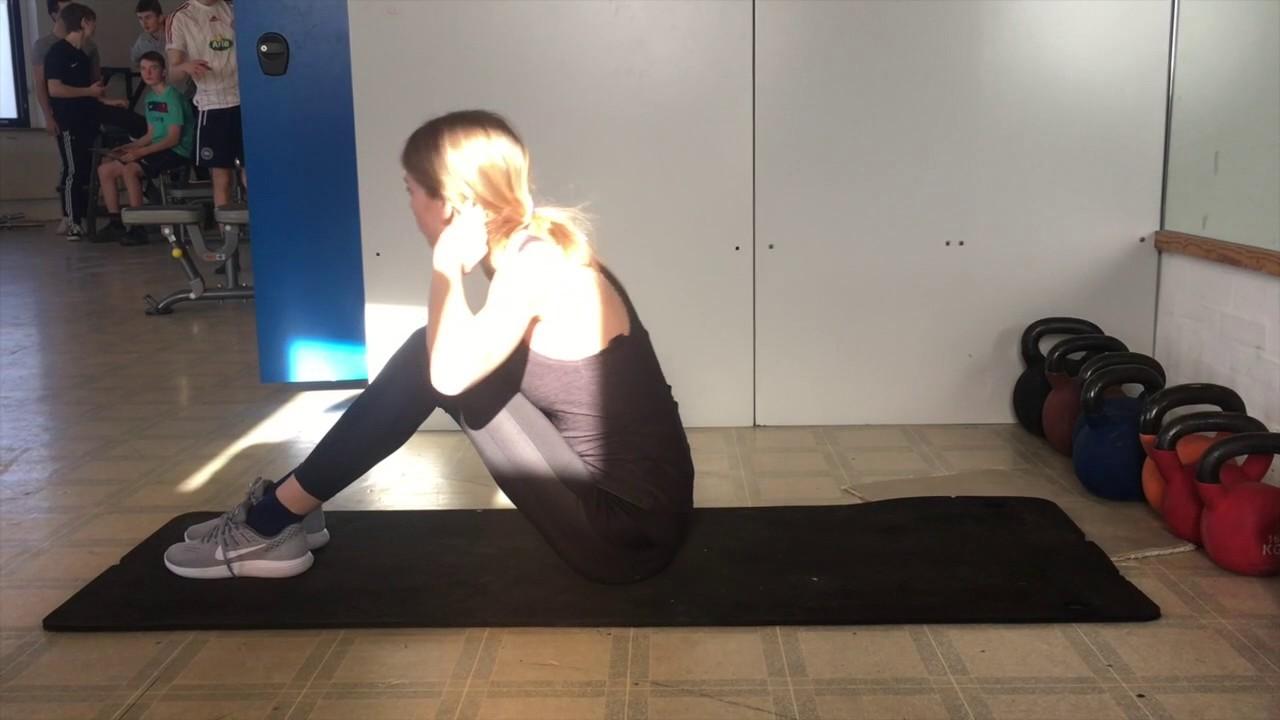 Idræt træningsprogram- Mave og ryg