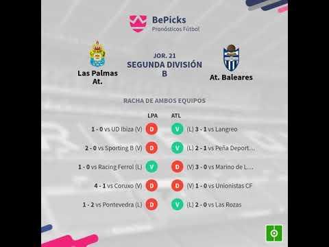 Previa Las Palmas At. vs At. Baleares - Jornada 21 - Segunda División... - Pronósticos y h...