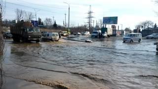 Резкое потепление. Потоп на Электросети 24.02.2017. г. Винница(На улице +15 и весть снег резко тает, образуются вот такие