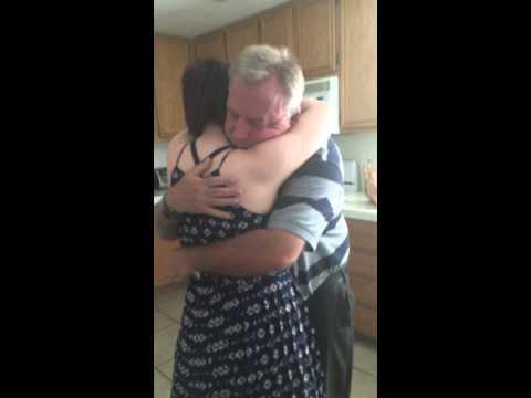 Daughter flies home for surprise visit tearjerker
