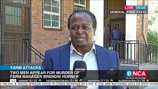 Brendin Horner murder accused back in senekal court