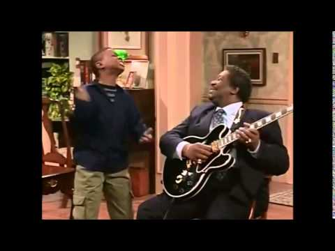 Kenny sings with BB King - The Cosby Show