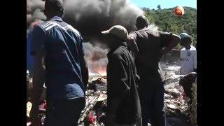 Fiery collision claims a life on Mai Mahiu
