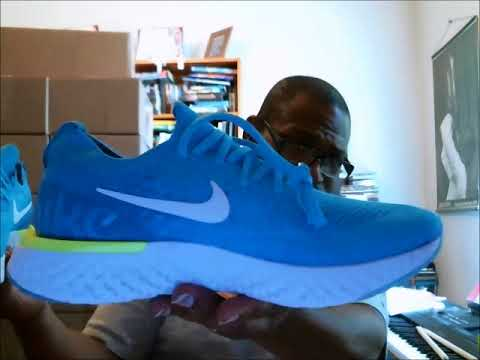 68ee7bbb9f1 Nike Epic React Flyknit Blue Glow | Authentic Verification