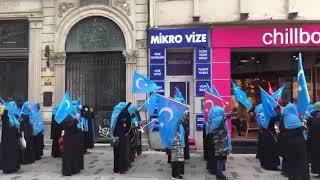 Уйгуры Бельгии проводят манифест в поддержку необходимости борьбы против геноцида мусульман в Китае
