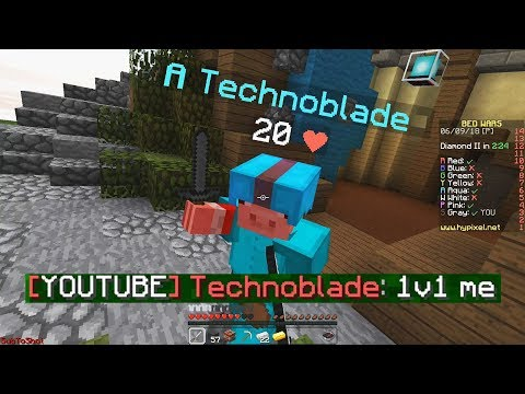 Technoblade vs ShotGunRaids in Bedwars