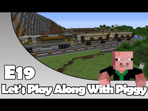Minecraft - Of Cranes And Pits - Let's Play Along With Piggy Episode 19