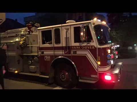 Vancouver Fire & Rescue Services - Pump 4 Responding (x2)