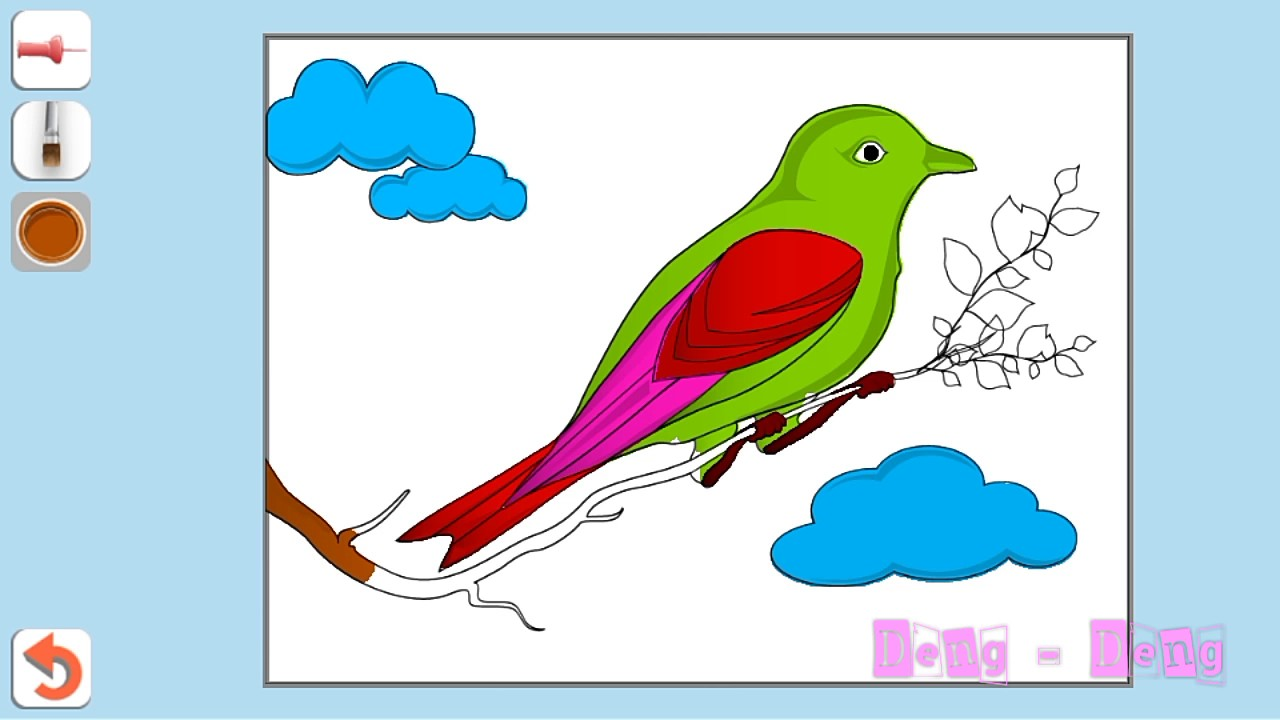 Lagu Burung Kakak Tua L Belajar Mewarnai Gambar