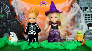 Chris TOOK Elsa Anna Candy  Halloween Trick or Treat Songs for Kids
