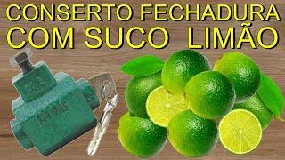 COMO RECUPERAR FECHADURA COM SUCO DE LIMÃO/DOOR LOCK/CERRADURA/LEMON JUICE/JUGO DE LIMON(Neste videos ensino como fazer reciclagem em fechadura( travada, engripada, enterrada, enferrujada ), usando suco de limão, uma maneira caseira bem ..., 2016-08-23T10:07:53.000Z)