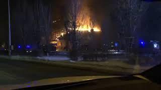 Курпный пожар в Астане – сгорело здание с офисами продаж  компании «Хайвилл Казахстан» (ВИДЕО)