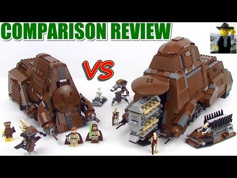 Lego Trade Federation MTT 7662 vs 75058 Review & Comparison