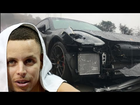 Shay Diddy - Steph Curry's INSANE Car Crash CAUGHT On Video!