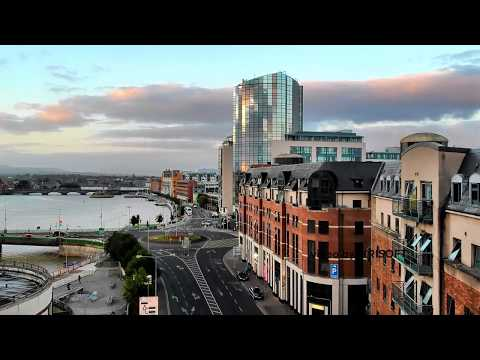 Limerick Dock Road drone view in 4K