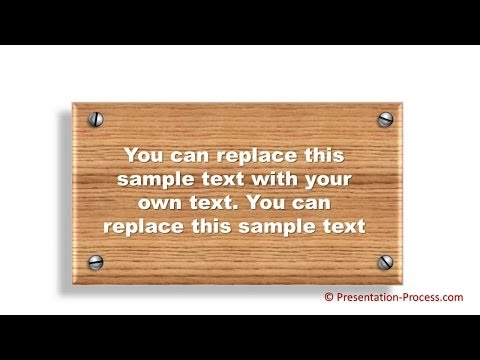 How To Create Plaque Diagram : PowerPoint Effect Series