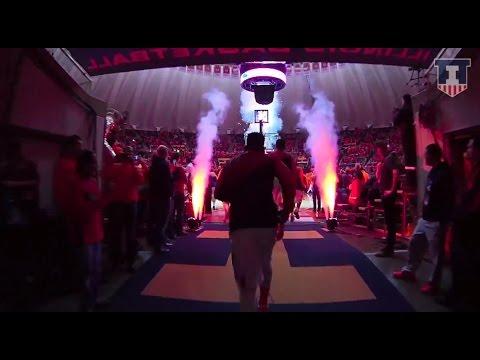 Illinois Basketball Team Entrance vs. Michigan State 2/22/15