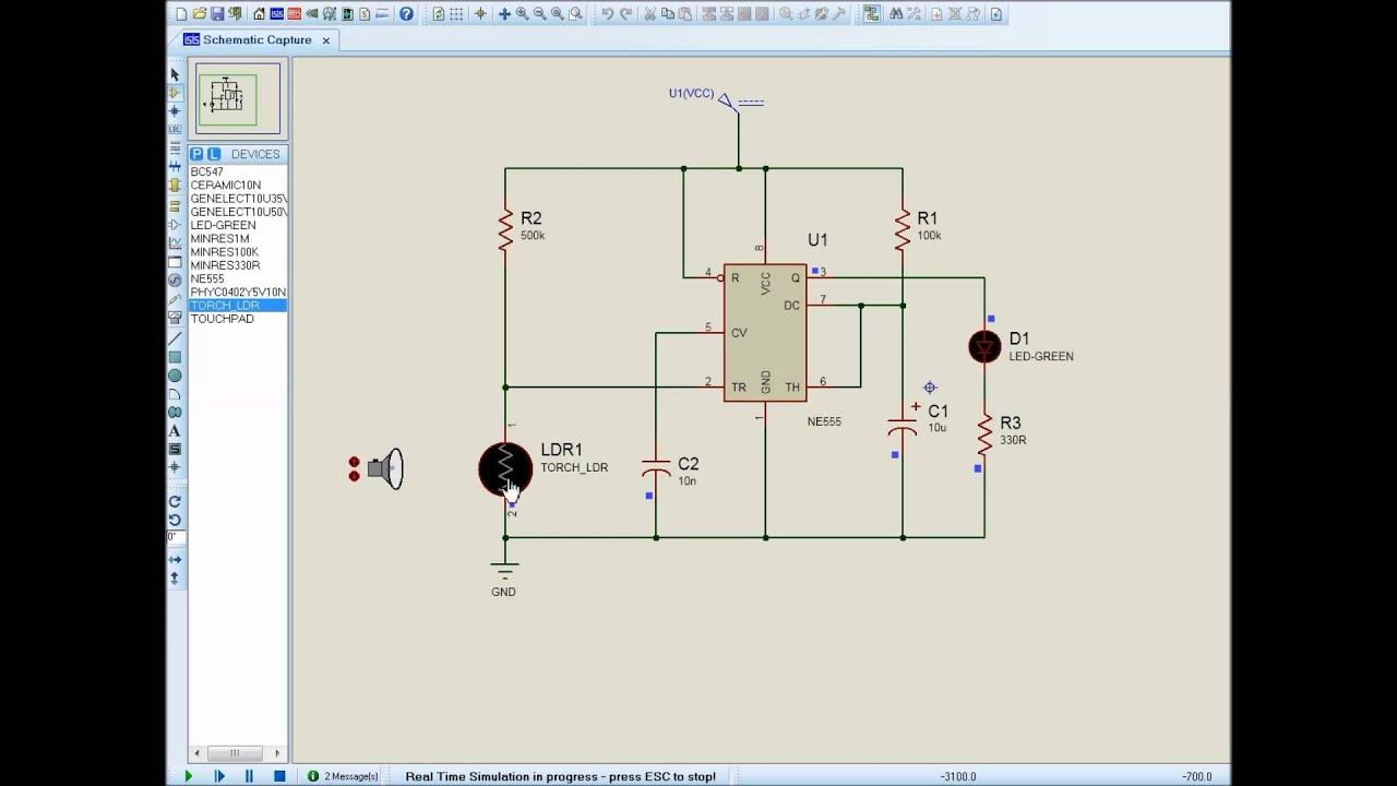 Ldr Simulation Using Proteus Youtube Dark Activated Relay Switch Ne555 Ic Circuit Diagram