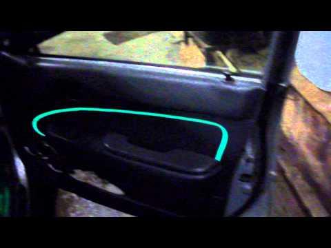видео: Неоновая нить в машину. Подсветка замка зажигания при открытии двери