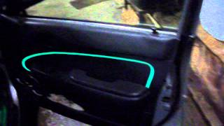 Неоновая нить в машину. Подсветка замка зажигания при открытии двери(При открытии двери автоматически включается подсветка замка зажигания. При закрытии двери подсветка гаснет., 2014-01-04T16:26:55.000Z)