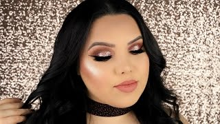 ROSE GOLD HOLIDAY GLAM TUTORIAL + $2000 GIVEA...