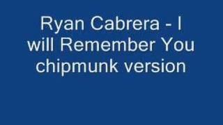 Ryan Cabrera- I will remember you chipmunk version