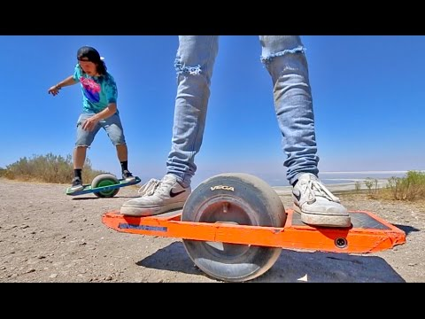 ONE WHEEL HOVERBOARD TRICKS!