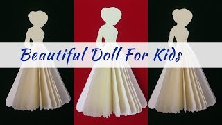 How To Make Paper Doll Easy | Paper Magic Doll | DIY Doll Making
