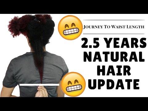 natural-hair-update-|-length-check-+-exciting-news!-|-journeytowaistlength