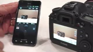 canon 6D remote controlled via WiFi connected smartphone!