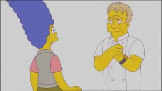 Гордон Рамзи на озвучке своего персонажа в Симпсонах