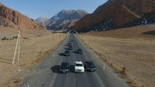 Wedding cars Epic mountains | Stock Footage - Videohive