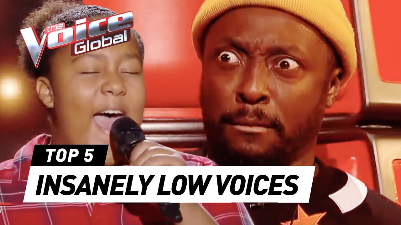 Most UNEXPECTED LOW & DEEP VOICES in The Voice Kids
