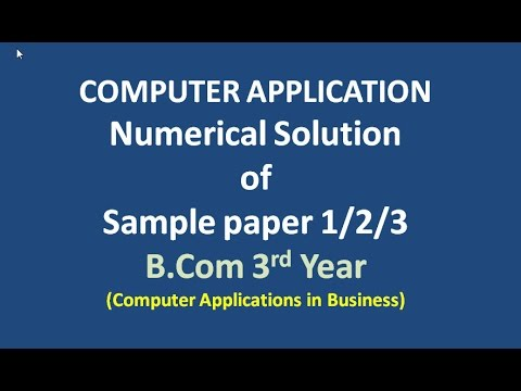 numerical solution of sample paper computer applications numerical solution of sample paper 1 2 3 computer applications in business b com