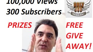 100,00 Views 300 Subs GIVE AWAY (HJRR) Free Prizes!