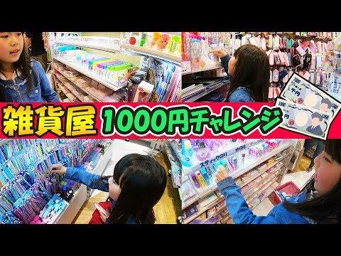 小学生姉妹は1000円で何を買う?かわいい雑貨屋で1000円チャレンジ‼ (りみ編) GWだ‼令和初‼お買い物‼大好きな文房具もたくさんで迷う♡㏌アリオ【しほりみチャンネル】【しほりみチャンネル】